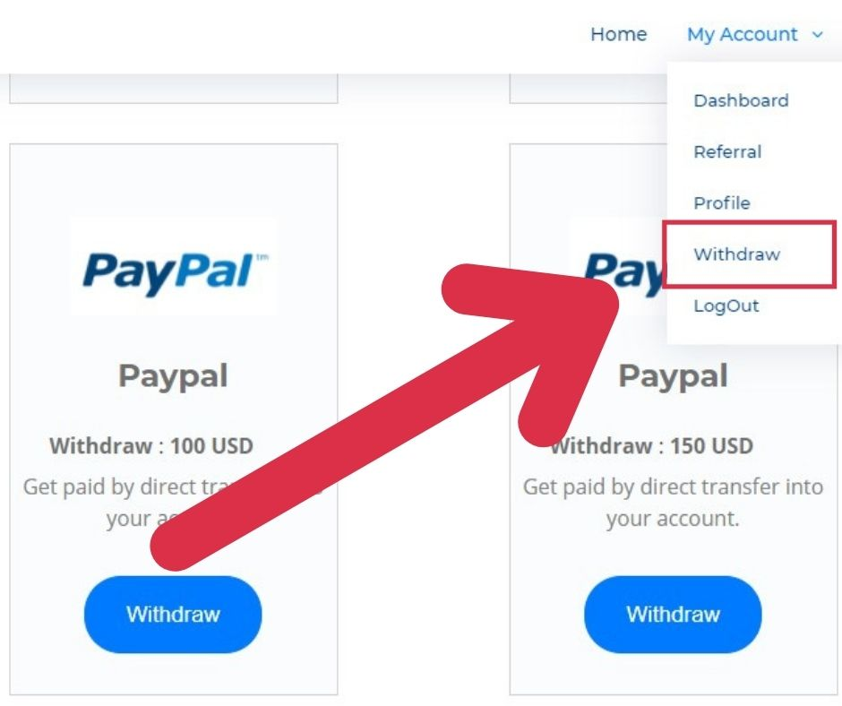 withdraw money after Earn Money Youtube
